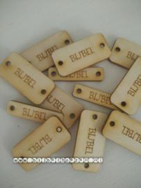 Houten label met woord BIJBEL (groot)