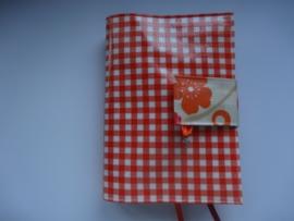 Oranje mini ruit & bedel Bijbelhoes voor HSV jongeren/vivella
