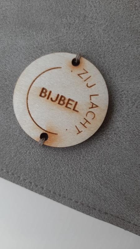 Houten label Rond met ZijLacht