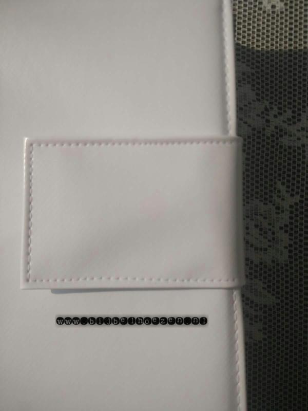 Bijbelhoes van wit tafezeil mat