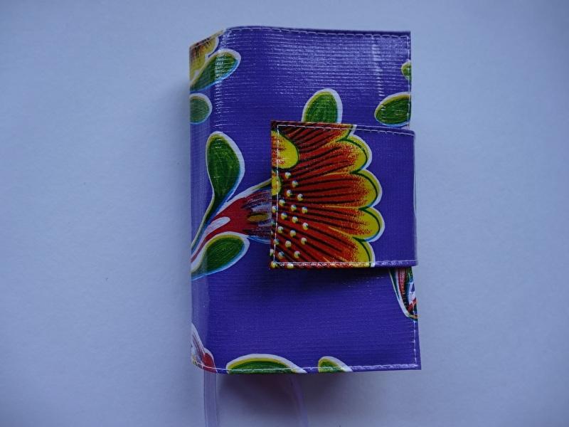Paars bloem Bijbelhoes voor Jongbloed zakbijbel