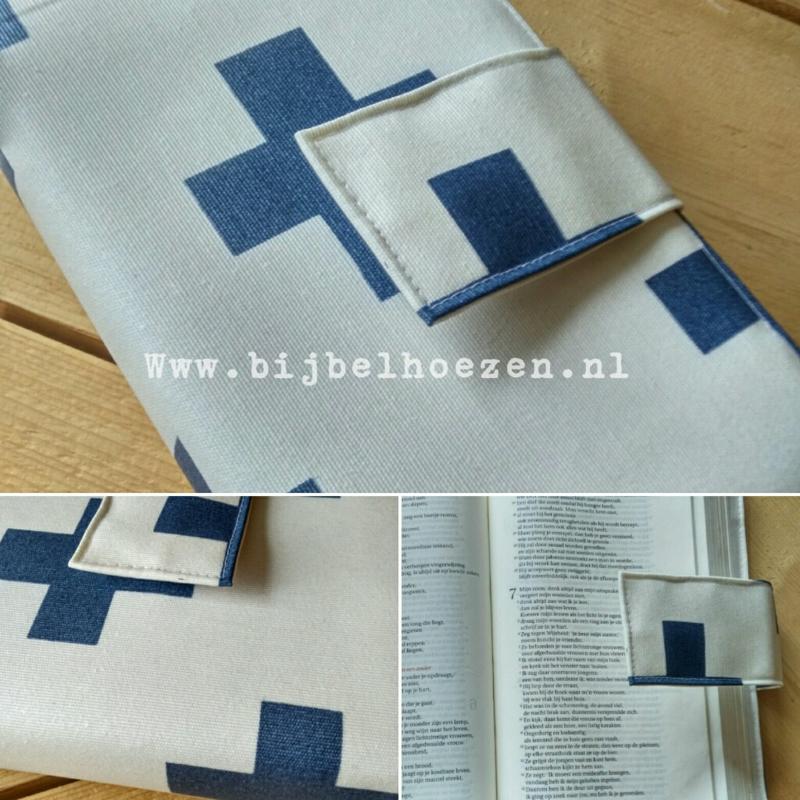 Cross blue Bijbelhoes voor NBV (oranje)