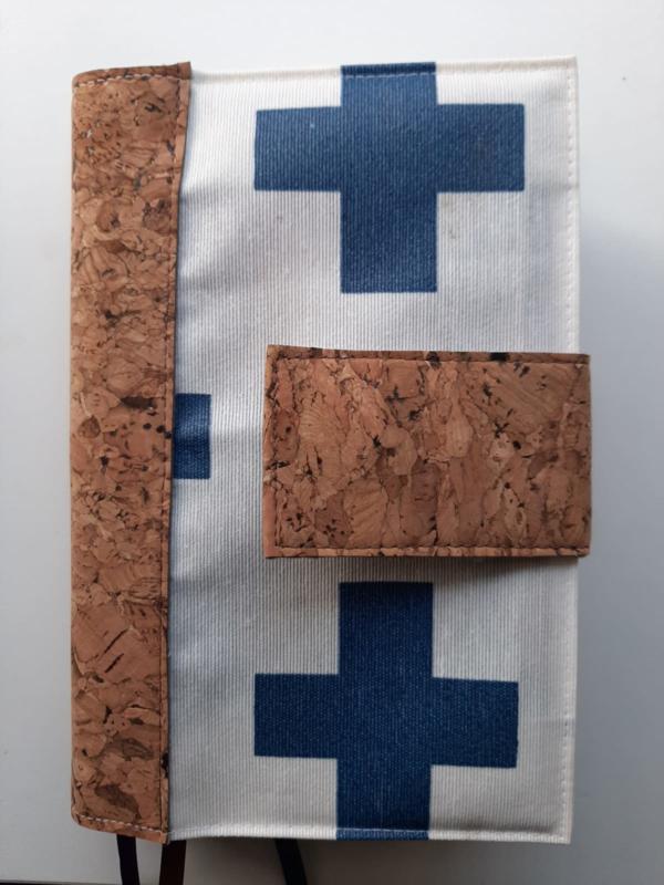 Cross jeansblue bijbelhoes met kurk (incl. sluitlip van kurk) voor HSV basis