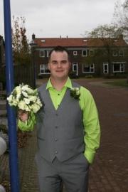 groene trouwjurk van Esmee