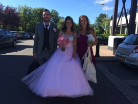 Roze trouwjurk van Florina