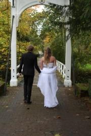 korte trouwjurk van Melissa