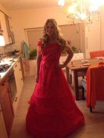 rode Prinsessenjurk
