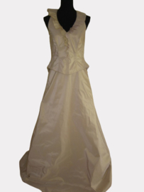 AF 7019 trouwjurk kleur beige maat 36/38