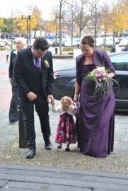 paarse bruidsjurk van Laura