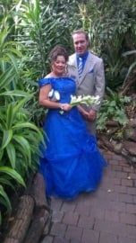 royalblauwe bruidsjurk van Yvonne