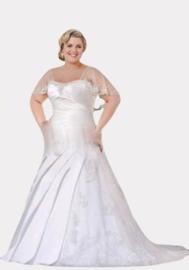 AF 6072 Grote maat bruidsjurk maat 50, 52, 54, 56