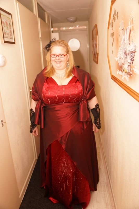rode bruidsjurk van Ilona