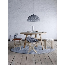 bloomingville rottan lamp grey