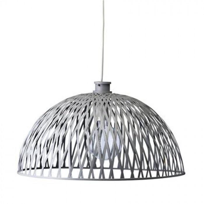 bloomingville rottan lamp grey