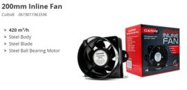 200mm Inline Fan 420 m3/u
