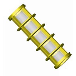 Losse FLD filterelementen (RVS, poly geel) 100 micron
