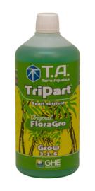Terra Aquatica TriPart® Grow / GHE FloraGro® 0,5 liter