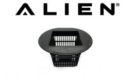 Vierkant net pot van Alien voor RDWC Black & Silver