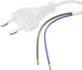 Kabel met stekker  0.75²mm lengte 1,5 meter