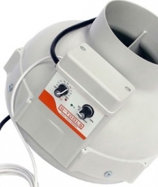 Buisventilator G-tools 125 met fancontroller en thermostaat 400m3/uur