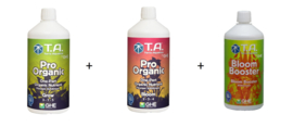 Terra Aquatica Pro Organic Grow + Bloom + Bloom Booster 1 liter set
