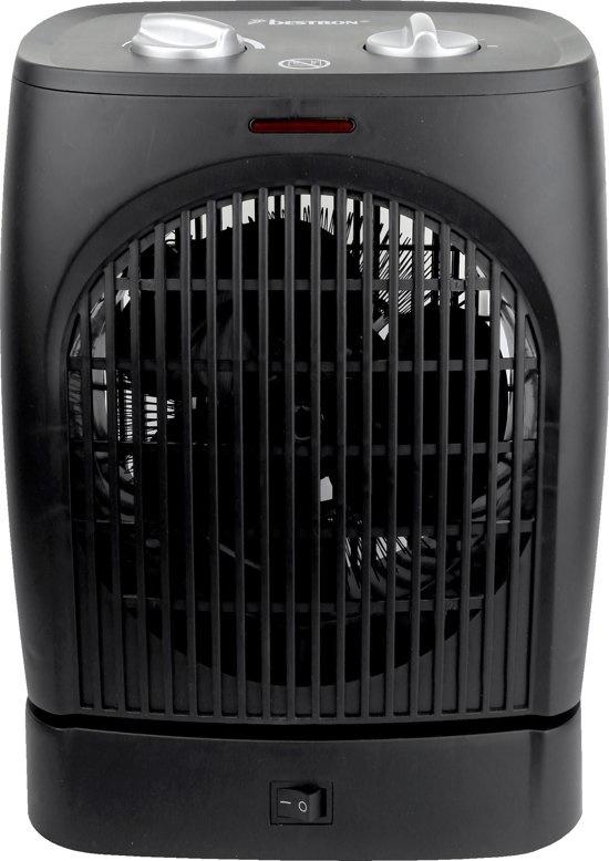 Bestron AFH218 zwenkende ventilator kachel zwart 2000W