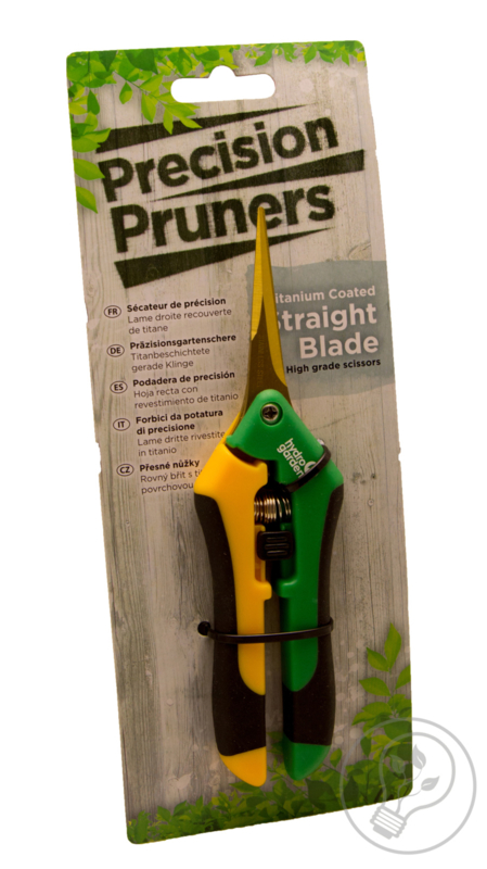 Hydro Garden Precision pruners straight blade titanium coated