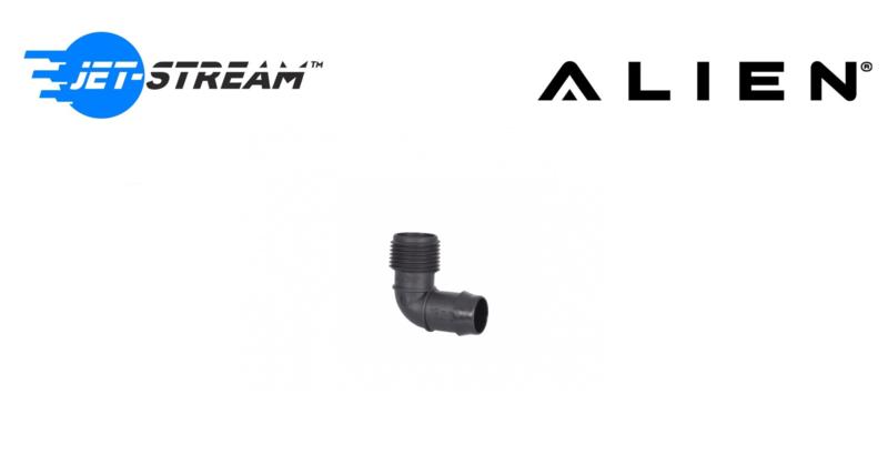 ALIEN® 19mm elleboog met weerhaken en schroefdraad