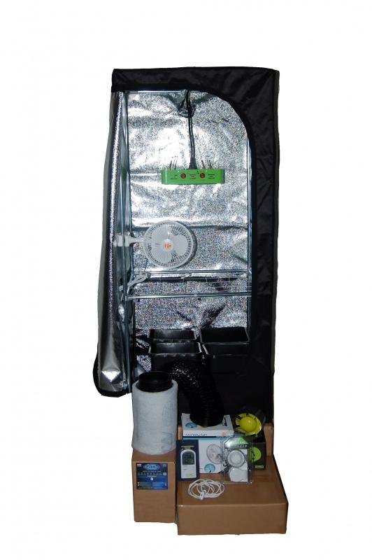 LED Kweektent Mammoth Pro (60x60x160) met 240 watt LED power.