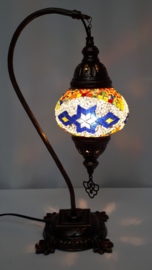 Tafellamp 13cm 'zwaan' MC  en blauwe ster