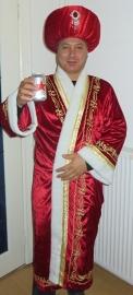 Sultan kaftan rood