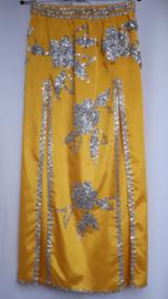 rok of jurkje geel/zilver
