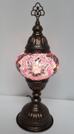 Tafellamp 13cm BS3 roze/zwart