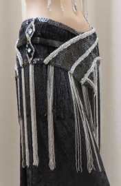 luxe heupgordel zwart/zilver