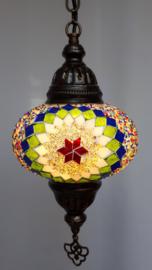 Mozaïek hanglamp 16cm multicolor 3BGW-GR