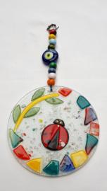 Wanddecoratie glasmozaiek lieveheersbeestje