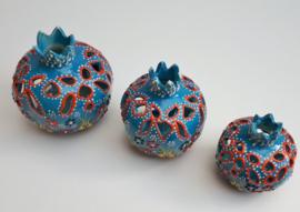 waxinelichthouders granaatappel -lichtblauw, prijs vanaf: