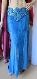 fluwelen rok blauw/goud of zilver