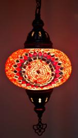 Mozaïek hanglamp 16cm rood-1