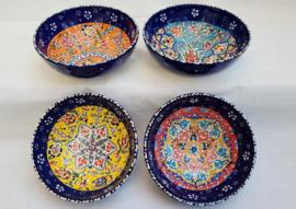 keramieken schalen 16 cm donkerblauw