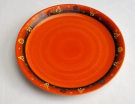 keramiek pizzabord of taartbord oranje