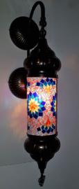 Mozaïeken cilinder wandlamp MC-blauw