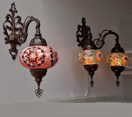 Mozaïek wandlampen
