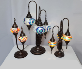 Tafellampen 2 en 3 bollen