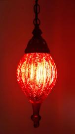 Hanglamp geblazen glas rood