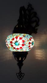 mozaiek wandlamp 13cm lichtblauw 5R