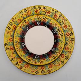 borden keramiek 18 of 26cm geel2, prijs vanaf