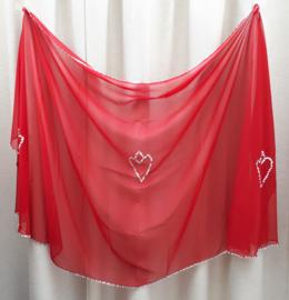 sluier 207 rood (240 x 120 cm)