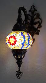 mozaiek wandlamp 13cm multicolor B3S