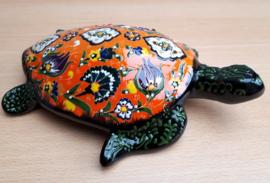 Schildpad keramiek oranje